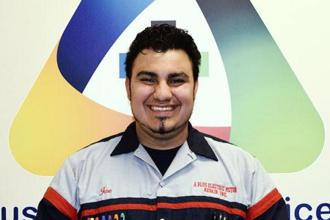 Jose Recendiz, technician at A Plus Electric Motor Repair, Inc.